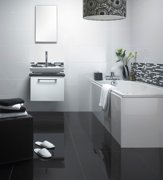 Super Black Polished Porcelain 600x300mm